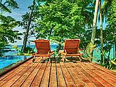 草坪椅,远眺,热带沙滩