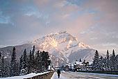 加拿大,班芙,山,冬天