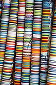 北美,墨西哥,瓜纳华托州,圣米格尔,彩色,编织物,手镯,展示,店