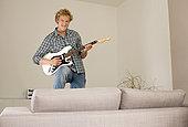 电吉他,公寓,仰视