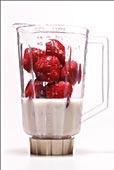 草莓,搅拌机