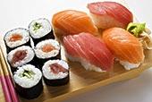 寿司卷,握寿司,寿司,棋盘