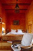 床,凹室,两个,窗户,摩洛哥,卧室