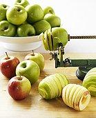 苹果,螺旋,切割器具