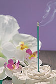 熏香,白色,兰花