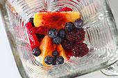 新鲜,水果,搅拌机,俯视