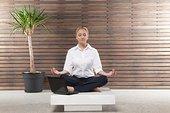 职业女性,练习,瑜珈