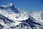 冰冠,巨大,顶峰,安娜普纳,安娜普纳地区,尼泊尔