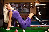 性感,女人,台球桌