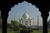 泰姬陵,风景,拱道,北方邦,北印度,亚洲