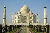 发光,白色,建筑,泰姬陵,古典,北方邦,印度,亚洲