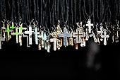 耶稣十字架,吊坠,给,基督教,商品,区域,拉合尔,旁遮普,巴基斯坦,亚洲