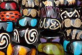 非洲,骨头,饰品,市场,货摊,纪念品