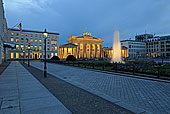 风景,勃兰登堡,大门,大使馆,左边,黃昏,柏林,德国,欧洲