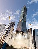 高层建筑,摩天大楼,上升,城市