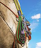 竖钩,绳索,悬挂,漂石