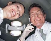 仰视,微笑,牙医,协助