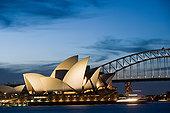 悉尼歌剧院,海港大桥,夜晚