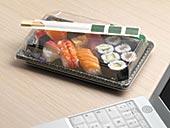 寿司,笔记本电脑