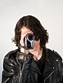 男青年,摄像机