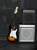 电吉他,扩音器