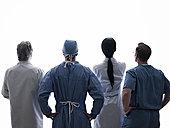 后视图,医护人员