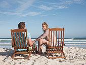 伴侣,休闲椅,海滩