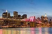 布鲁克林大桥,夜晚