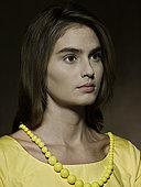 肖像,年轻,女人