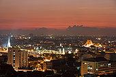 曼谷,城市,黄昏