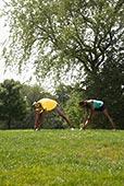人,瑜珈,公园