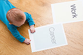 婴儿,纸,说话,工作,人生
