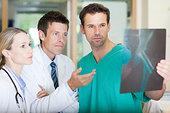 博士,外科,看,X射线