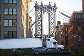 卡车,曼哈顿大桥,纽约