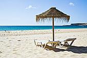 伞,海滩,阿尔加维,葡萄牙