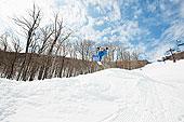 滑雪板玩家,跳跃,半空中