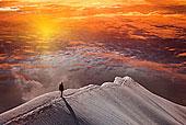 人,山,日落,圣莫里茨,瑞士