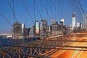 纽约,桥,天际线