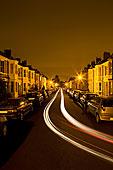 住宅,街道,夜晚,时间,尾灯,交通