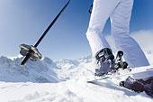 滑雪者,山顶,滑雪,斜坡