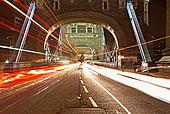 英格兰,伦敦,塔桥,光影,交通,穿过
