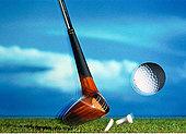 特写,高尔夫球杆,击打,球