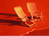 两个,椅子,海滩,日出,马尔代夫,印度洋