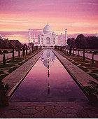 泰姬陵,日落,印度