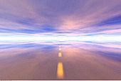 公路,天空