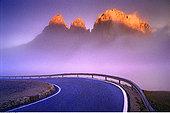 黎明,多洛迈特山,意大利北部,意大利
