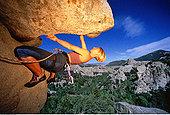 女人,攀岩,岩石城,爱达荷,美国
