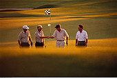 男人,握手,高尔夫球场