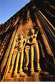 建筑细节,吴哥窟,柬埔寨
