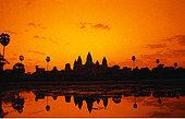 日出,上方,吴哥窟,柬埔寨